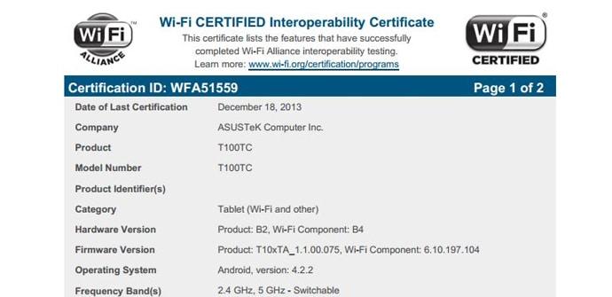 ASUS T100TC WiFi Alliance