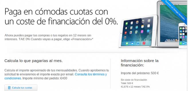 Apple financiacion