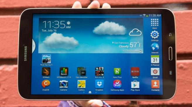 Galaxy Tab 3 8.0 horizontal