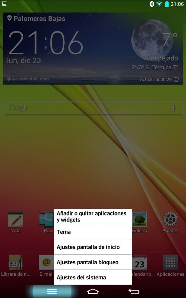 LG G Pad 8.3 multitarea