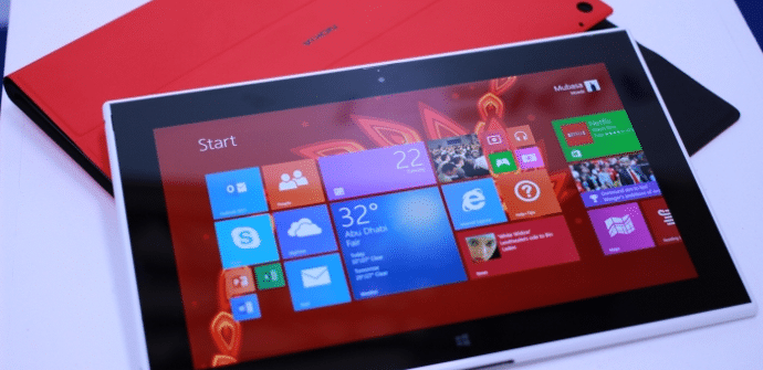 Lumia 2520 pantalla