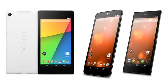 Nexus y Google Play Edition