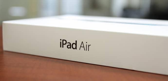 iPad Air caja