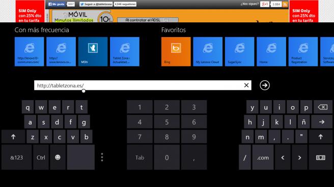 Lenovo ThinkPad Tablet 2 teclado partido