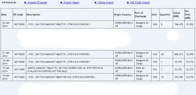 Galaxy Tab 4 SM-T330 Zauba