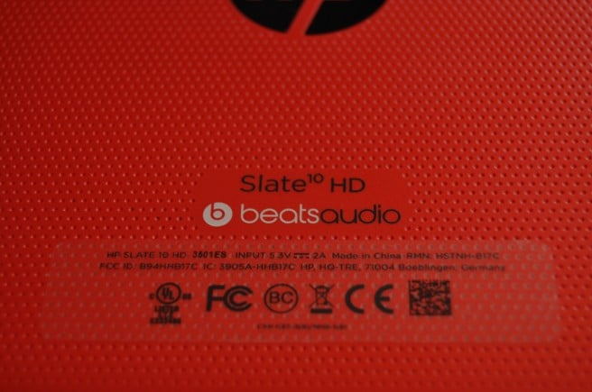 HP Slate 10 beats audio
