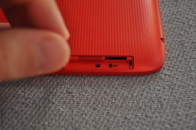 HP Slate 10 pestaña micro SD