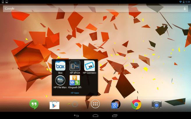 HP Slate 10 apps