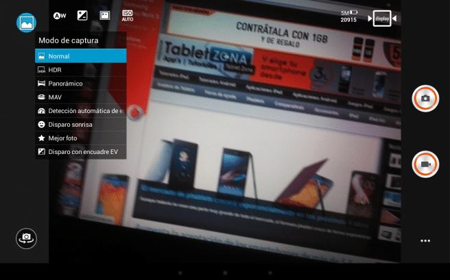 Lenovo Yoga captura camara