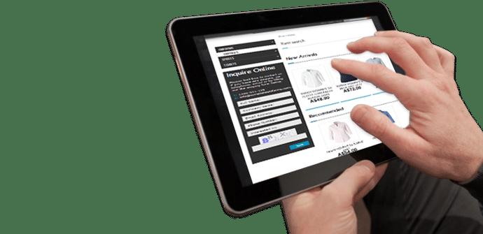 Tablet ecommerce