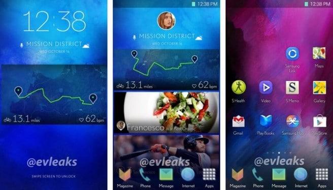 Galaxy S5 interfaz