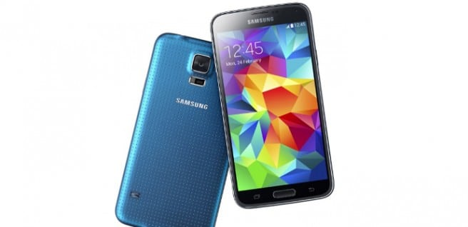 Galaxy S5 azul comparativa