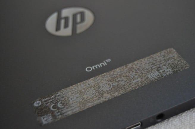 HP Omni cubierta trasera