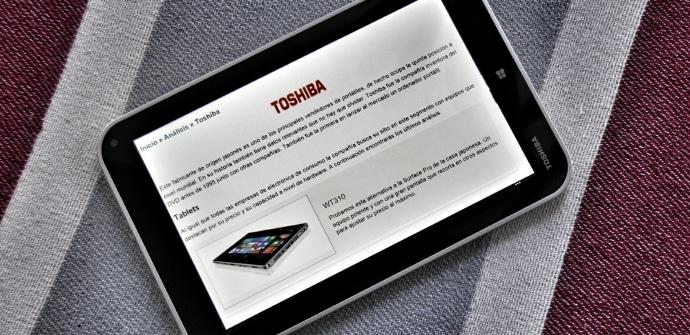 Toshiba Encore prueba
