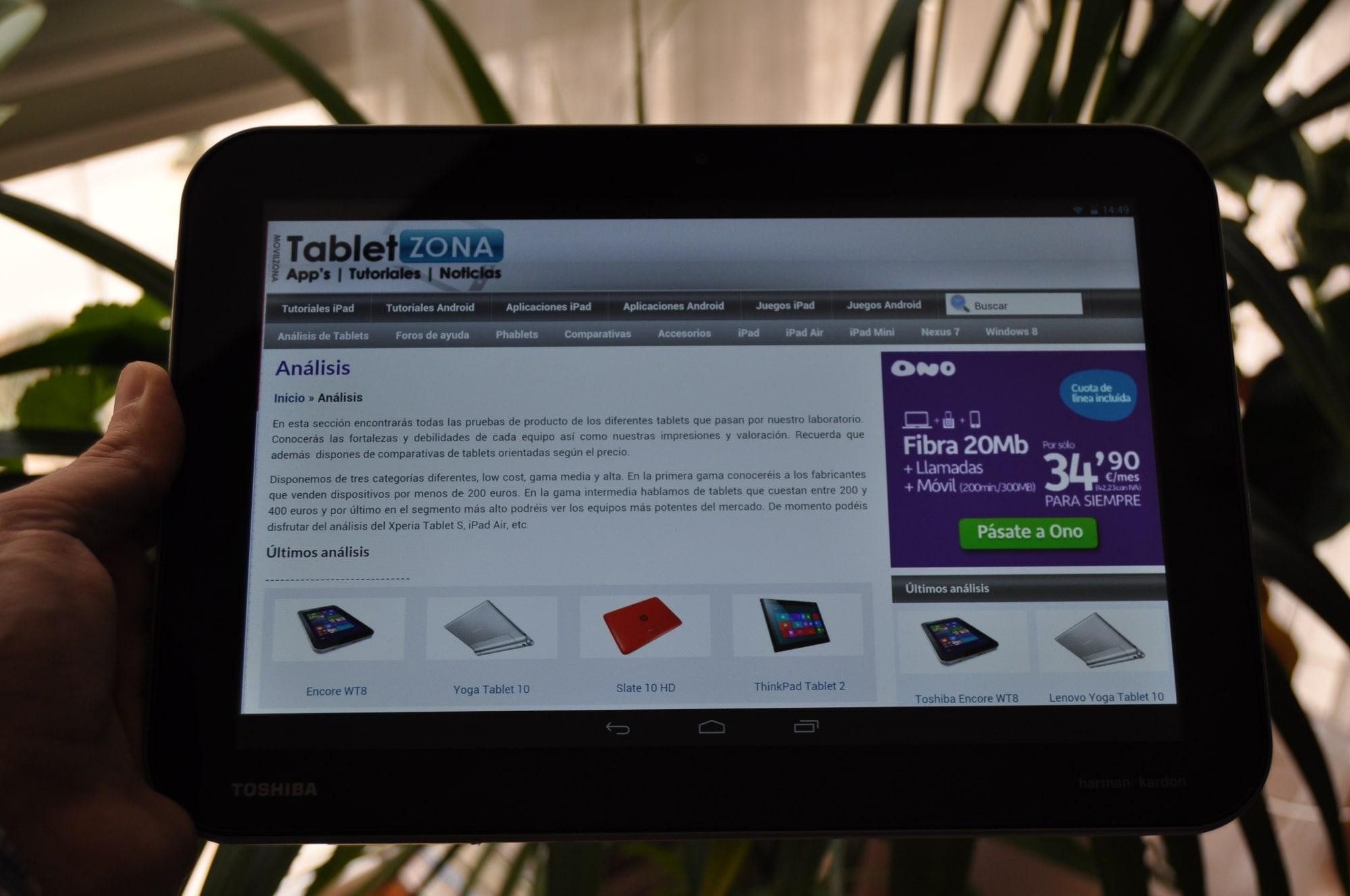 Toshiba Excite Pro analisis