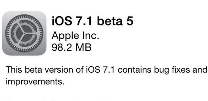 iOS 71 beta 5