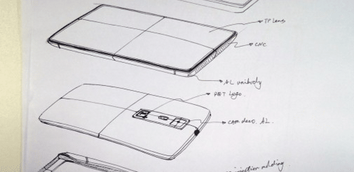 OnePlus One boceto