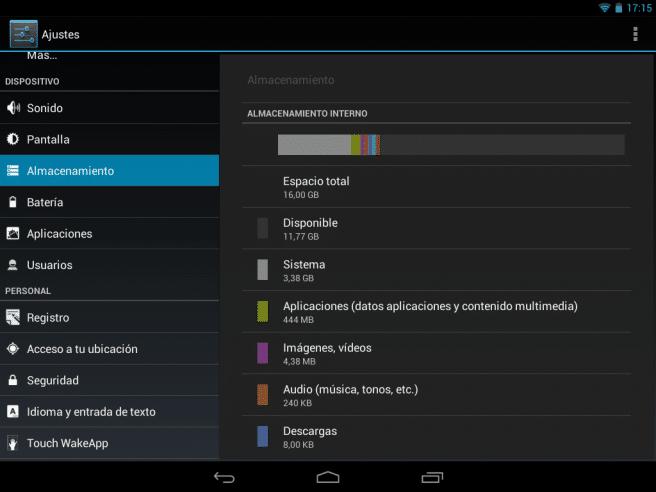 Acer Iconia A1 captura memoria