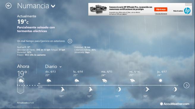 Lenovo IdeaPad Flex app tiempo