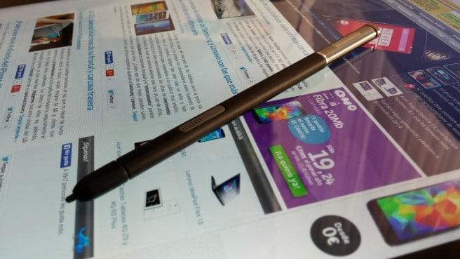 Galaxy Note Pro pantalla y S Pen