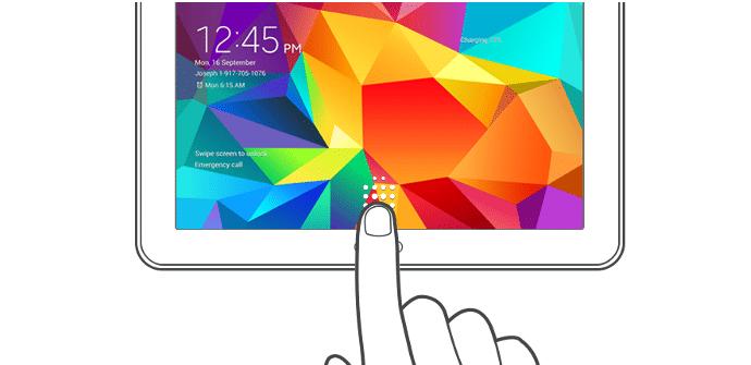 Galaxy Tab S escaner de huellas