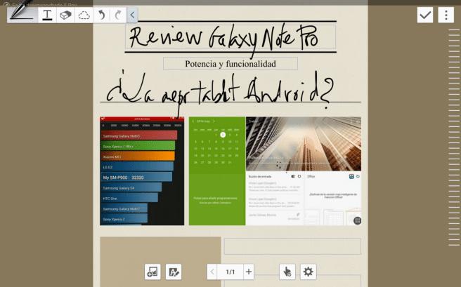 Galaxy NotePro App notas