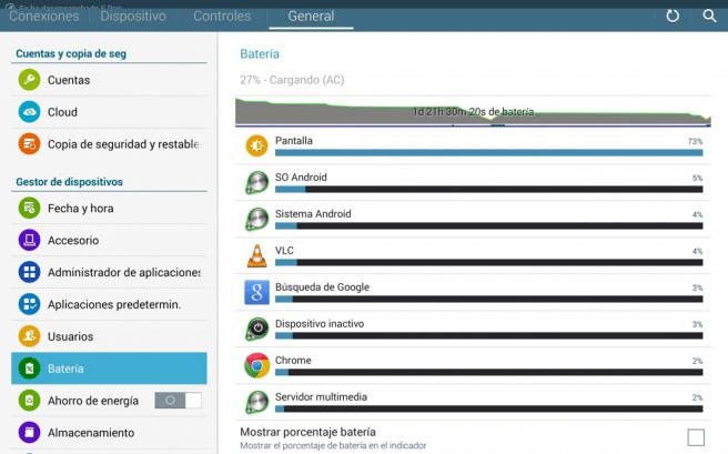 GalaxyNote Pro datos bateria