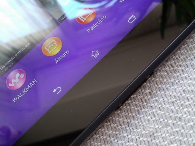 Xperia Z2 Tablet barra de navegacion