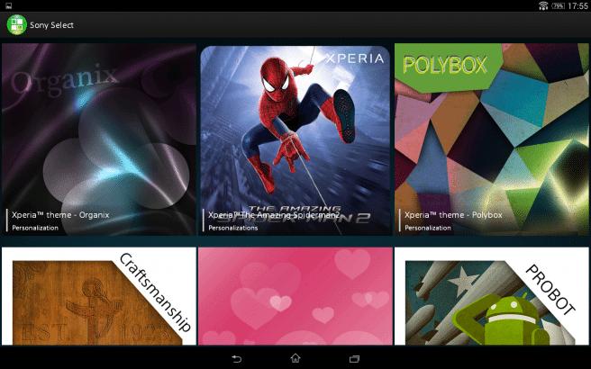 Xperia Z2 Tablet temas