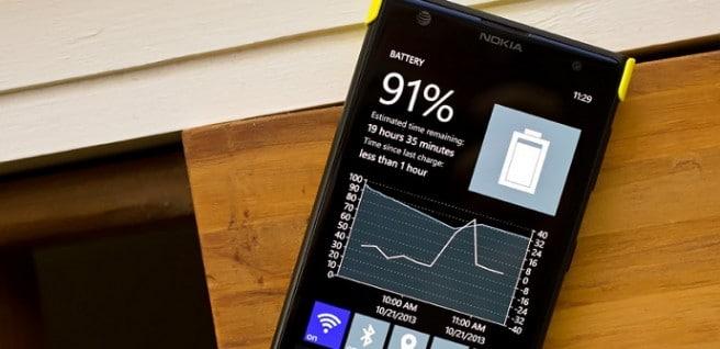 Windows Phone bateria