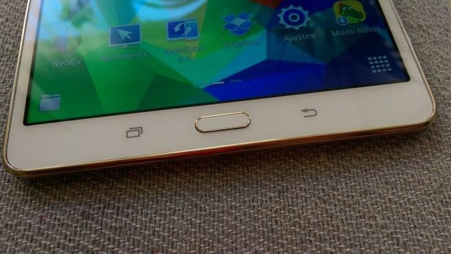 Galaxy Tab S 8.4 boton home