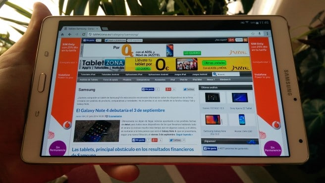 Galaxy Tab S 8.4 analisis apaisado
