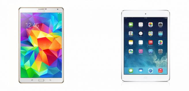 Galaxy Tab S 8.4 vs iPad mini Retina