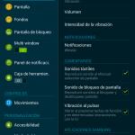 Galaxy Tab S 8.4 ajustes generales
