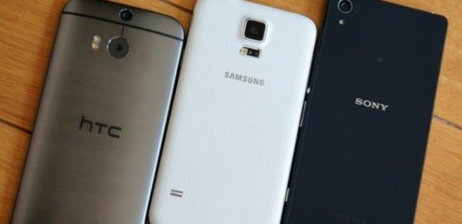 Xperia Z2 HTC One M8 y Galaxy S5