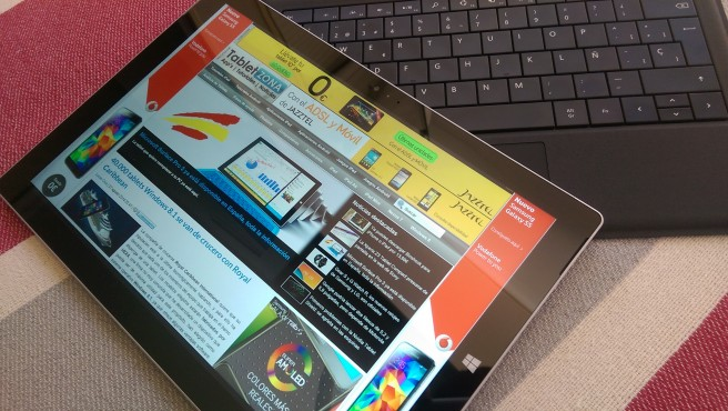 Surface Pro 3 tablet y teclado