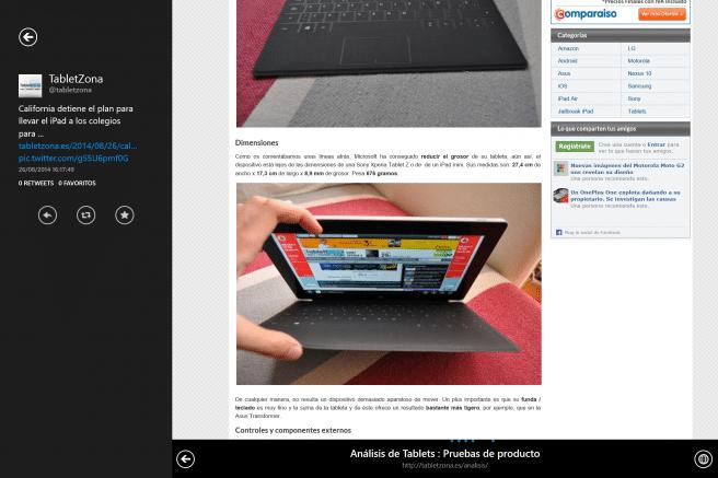 Surface Pro 3 app Twitter