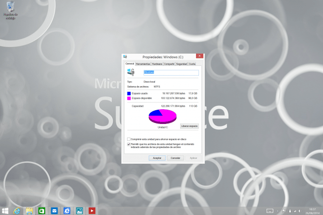 Surface Pro 3 almacenamiento