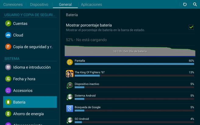Galaxy Tab S 8.4 autonomia
