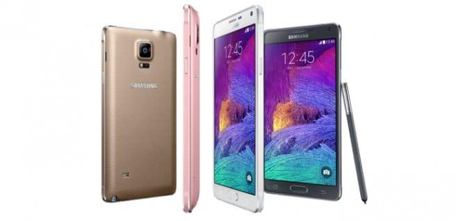 Galaxy Note 4 colores