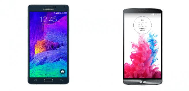 Galaxy Note 4 vs LG G3