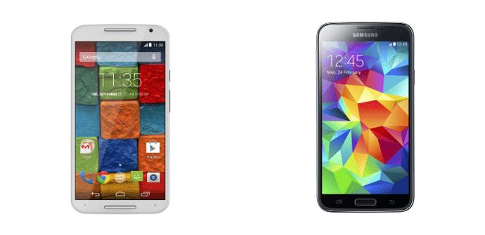 Moto X 2014 vs Galaxy S5