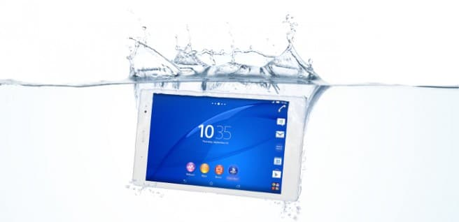 Xperia Z3 Tablet compact agua