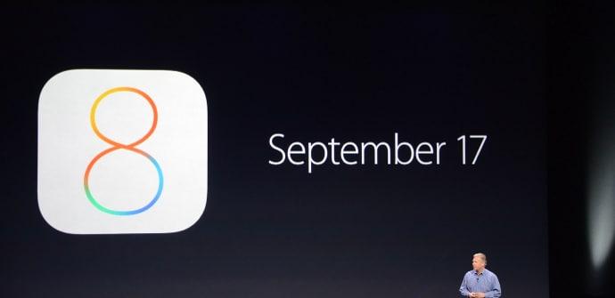 iOS 8 17 septiembre