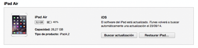 iOS 8 restaurar