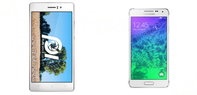 Oppo R5 vs Galaxy Alpha