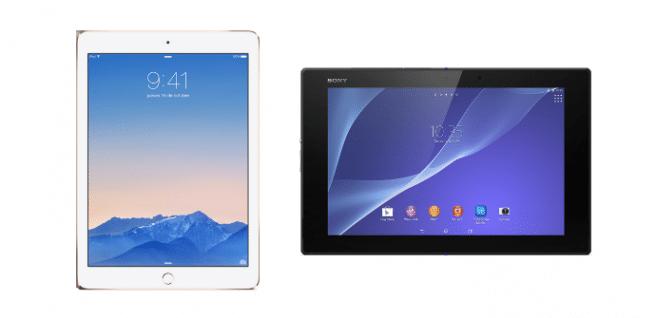 iPad Air 2 vs Xperia Z2 Tablet