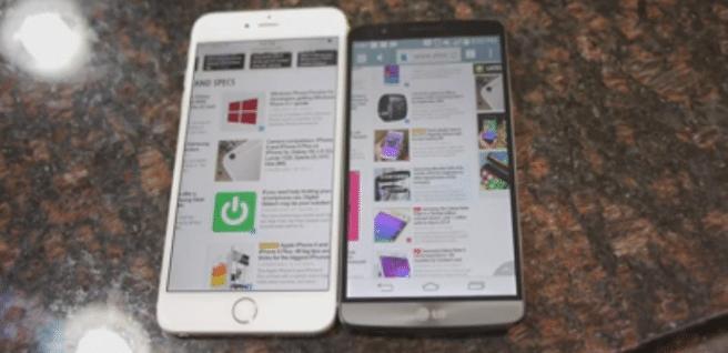 iPhone 6 LG G3 navegacion