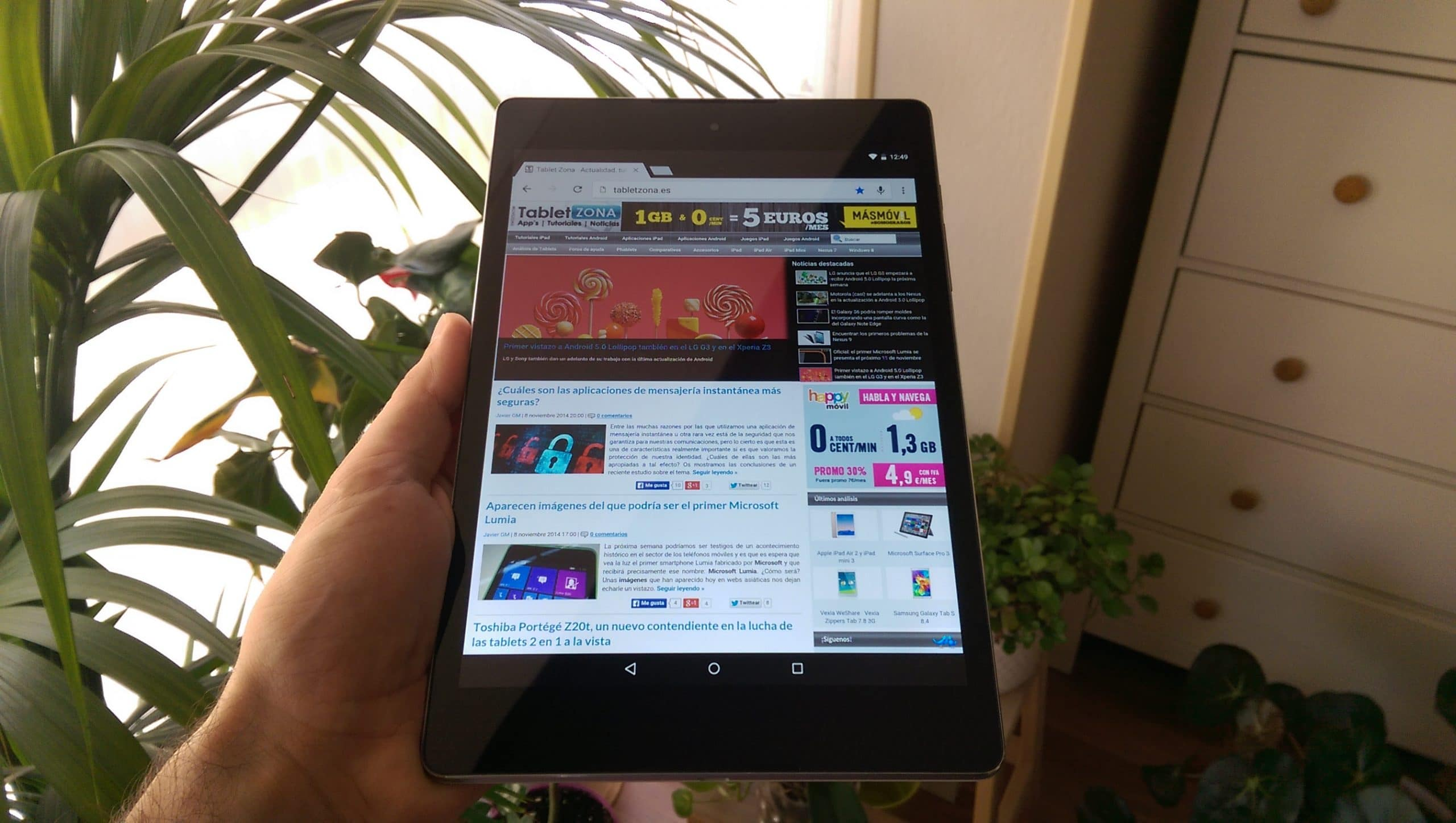Nexus 9 tabletzona