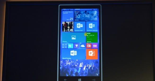 Windows 10 smartphones inicio